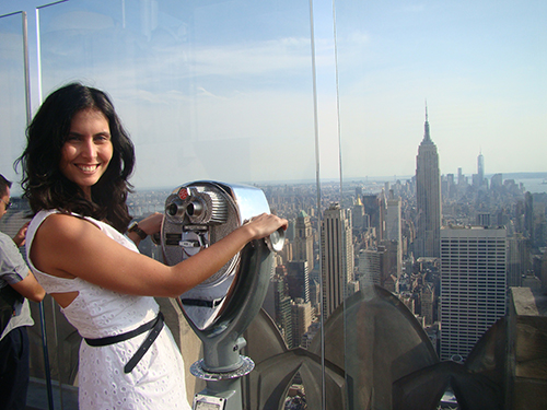 Em cima do Top of The Rock