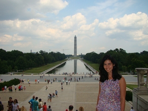 A vista no Lincoln Memorial