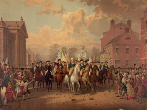 George Washington pós vitória contra os ingleses