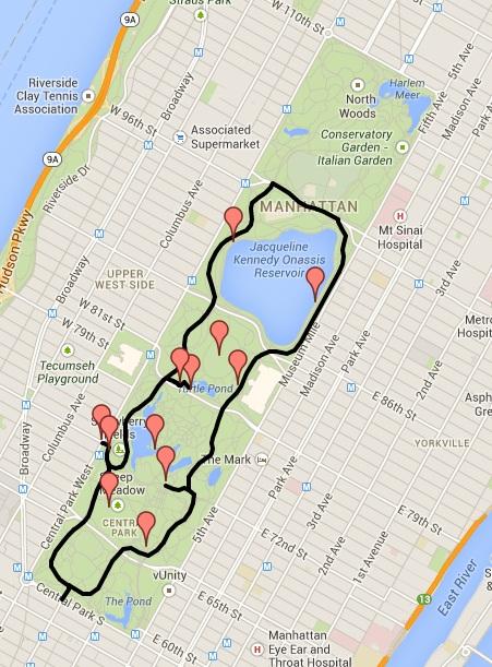 Mapa - Central Park