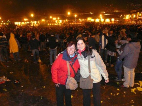 Em frente a Plaza Mayor