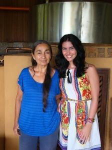 Com Maria Izabel no seu Alambique
